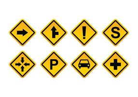 Free Road Sign Vector Pack