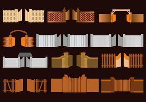 Tipos De Puerta Abierta vector
