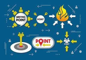 Ontmoetingspunt vector ontwerp