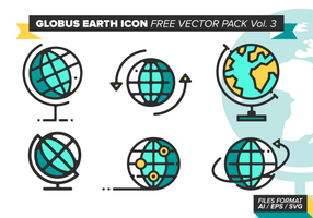 Globus Earth Icon Free Vector Pack Vol. 3