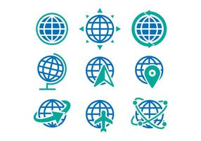 Iconos De Globo Libre De Vector