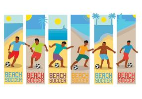 Vecteur de football de plage