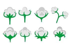 Free Cotton Flower Icons Vector
