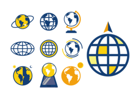 Globus Pictogrammen Vector