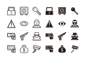 Theft-icons-vector