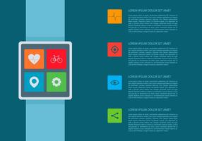 Heart Rate Smartwatch Infographic Template