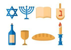 Vector Shabbat judío gratis