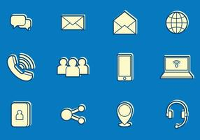 Email and communication icons vector