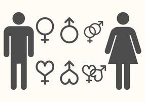 Vector de symboles de genre gratuit