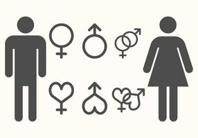 Vector de símbolo de gênero livre
