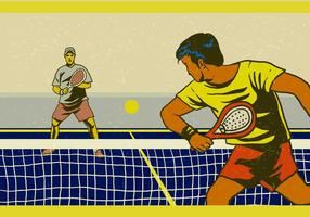 Padel Professional Player vector