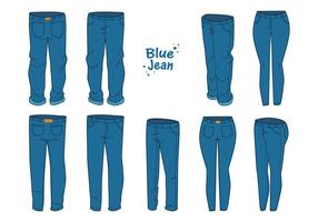 Libre Blue Jean Vector