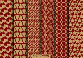 Christmas Vintage Style Seamless Pattern Vector