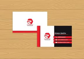 Name Card Template Free Vector