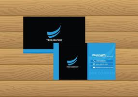 Name Card Template Blue Free Vector