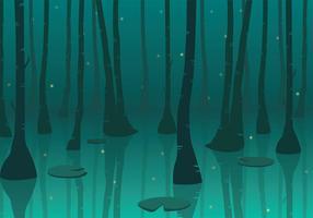 Swamp Bakgrund Gratis Vector