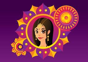 Indisk kvinna Gratis Vector