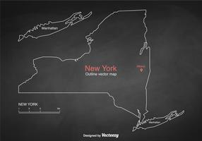 Free Vector Outlined New York Map