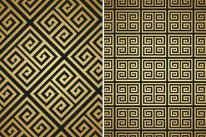 Gratis Versace Golden Vector Patterns