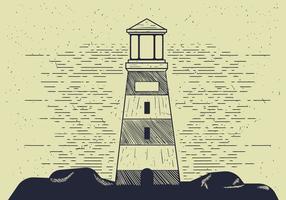 Illustré détaillé de phare vectoriel détaillé