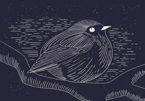 Kostenlose detaillierte Vektor-Illustration von Vogel