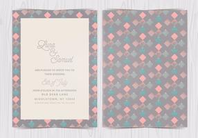 Vector géométrique Pattern Wedding Invite