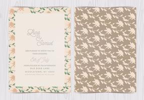 Invitation de mariage floral vectoriel