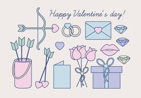 Vector Valentine's Day Objects
