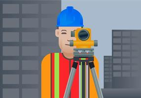 Free Surveyor Ilustraciones Vectoriales