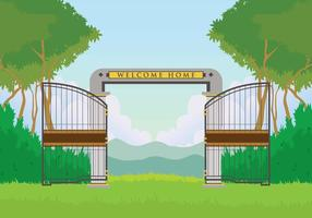 Free Open Gate Illustration vector