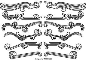Set von Vintage Ornamental Dividers