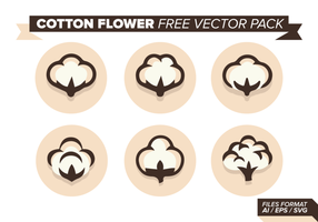 Pacote de vetores grátis de flor de algodão