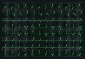 Heart pulse graphic vector