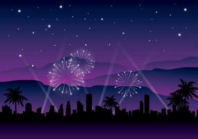 Hollywood Light Nacht Hintergrund Free Vector