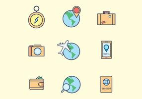 Travel Icons Free Vector Art 14 049 Free Downloads