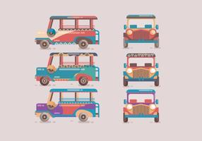 Jeepney Colorful Vector