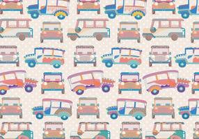 Jeepney Pattern Vector