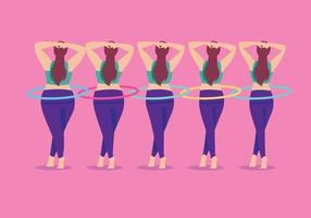 Slimming Hula Hoop Vector