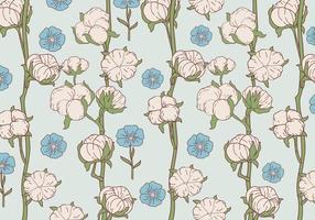 Vecteur de motif de fleur de coton