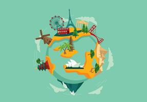World Travel Free Vector