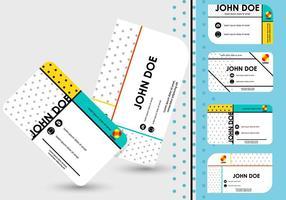 Diseño de la plantilla de la tarjeta de nombre