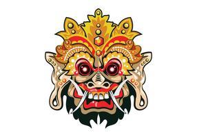 Máscara de vector de Barong