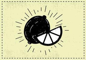 Mano libre dibujado fondo de la fruta de limón