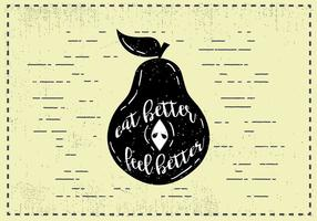 Free Hand Drawn Pear Fruit Background vector
