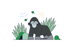 Freier Gorilla-Vektor