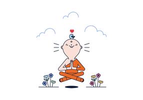 Vector libre del gurú de la meditación