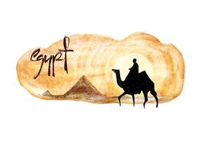 Free Egypt Watercolor Vector