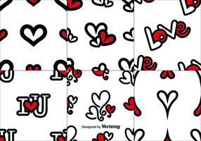 Vector Set Liebe Nahtlose Muster