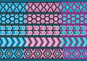 Blue And Pink Huichol Ribbons