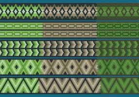 Green And Brown Huichol Ribbons vector